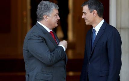 Порошенко провел встречу с новым премьер-министром Испании Педро Санчесом