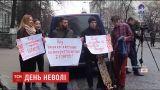Под посольством Беларуси киевляне требовали прекратить репрессии в отношении оппозиционеров