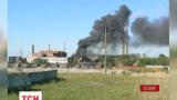 В эстонском городе Силламяэ пылает химический завод