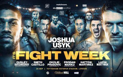 Усик - Джошуа: файткард вечера бокса и когда начнется бой