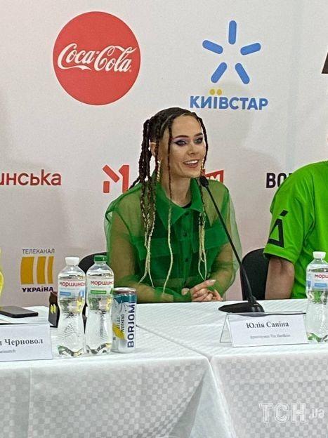 Юлия Санина на пресс конференции Atlas Weekend / © Аліна Онопа, ТСН.ua