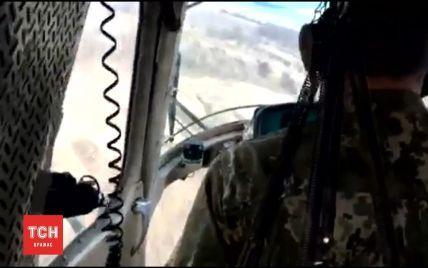 Эксклюзивное видео с вертолета, который потерпел крушение на Донетчине
