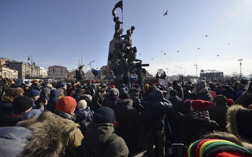 Акції протесту у Владивостоці / © Reuters