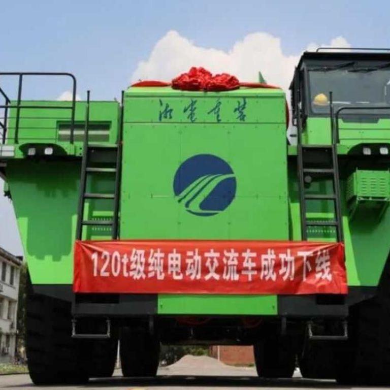 Китайцы представили первый в мире электрический карьерный самосвал на батарейках