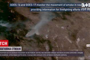 Новини світу: лісові пожежі в США видно навіть із космосу – у NASA поділилися кадрами