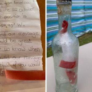 Послание в бутылке проплыло две тысячи километров и попало в руки британцев