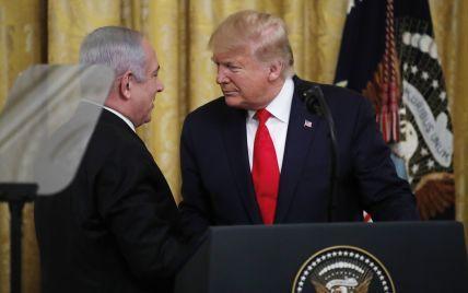 """""""Повноцінна держава Палестина"""". Трамп представив мирний план для """"Близького Сходу"""""""