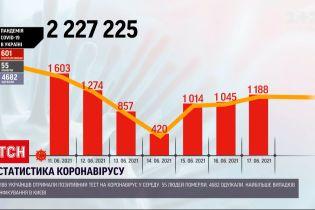 Коронавирус в Украине: за сутки от болезни умерли 55 человек