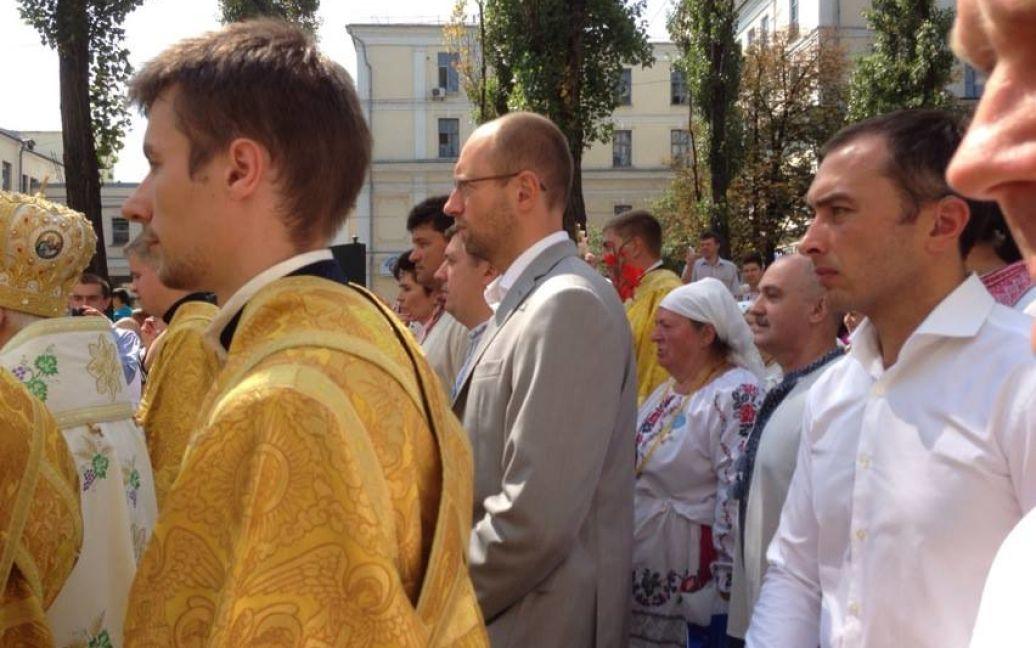 """Лідер """"Батьківщини"""" Арсеній Яценюк також бере участь у Ході / © arkansasnews.com"""