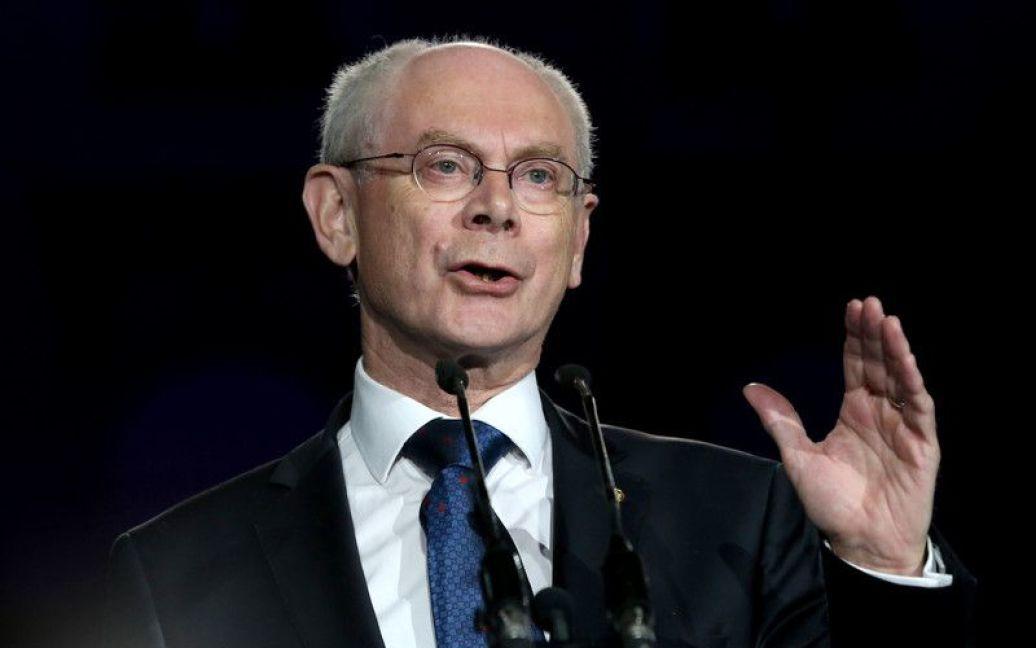 Голова Європейської Ради Герман ван Ромпей привітав хорватів зі вступом до ЄС / © http://twitter.com/mrskutcher