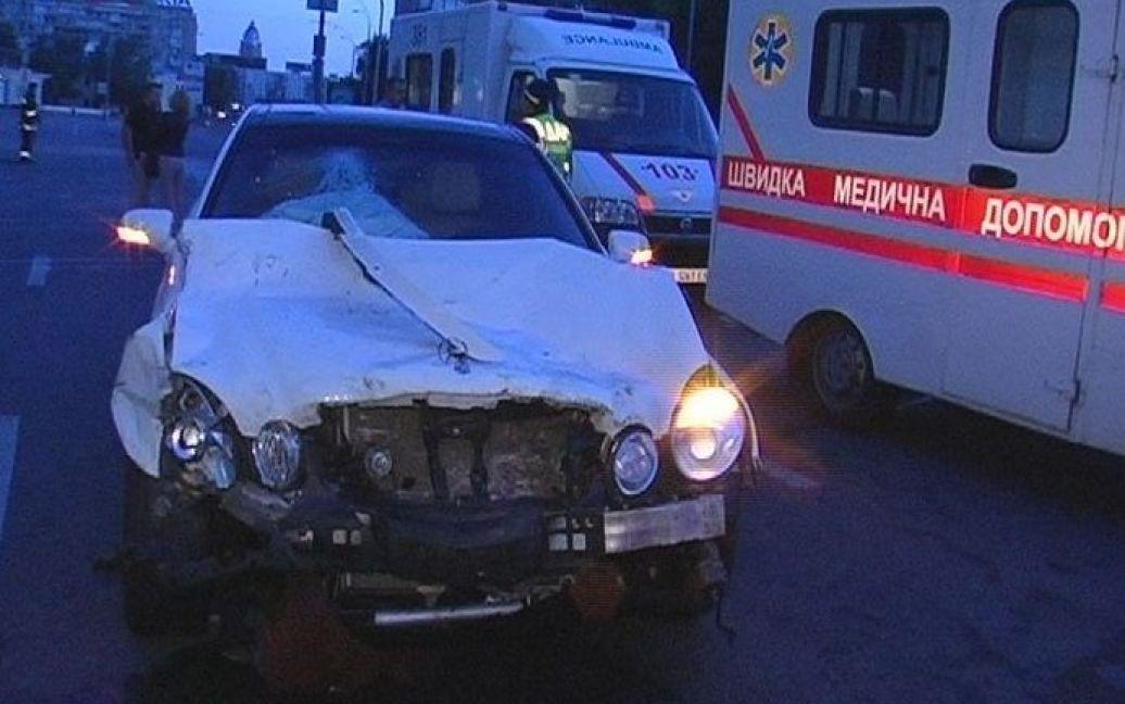 В центрі Києва сталася потрійна ДТП / © Магнолія-ТВ