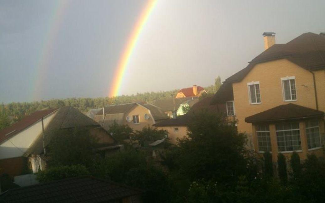 Над Києвом після дощу було видно незвичайну веселку / © Ігор Коваленко