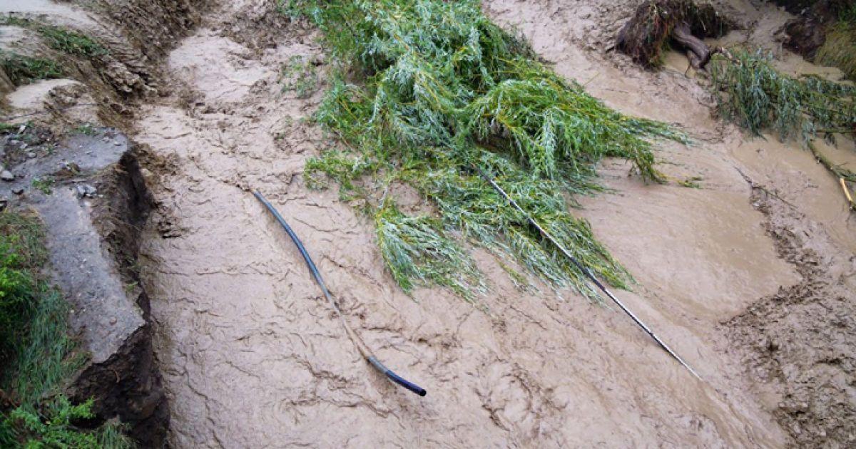 Морське накрив селевий потік / © sandro.in.ua