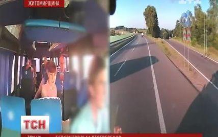 Перед аварією на Житомирщині автобус на шидкості 140 км/год тричі ледь не збив фуру - очевидці