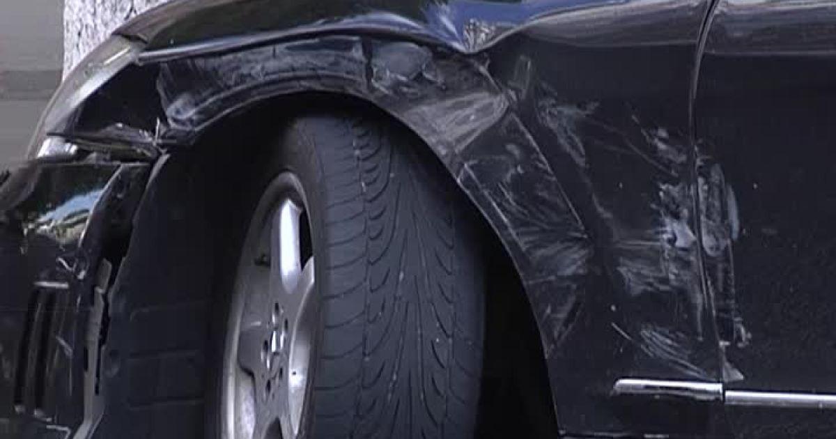 Дмитрий Ступка разбил авто в Киеве