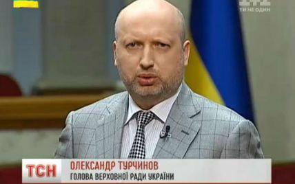 З окупованими територіями домовлятися немає сенсу, їх можна тільки звільняти – Турчинов