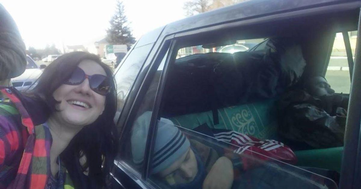 У нього є селфі з пофарбованою зіркою в Москві, а в мене є селфі з ним сплячим / © www.facebook.com/S.Vitvitska