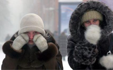 На Різдво Україну скують 20-градусні морози