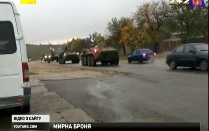 В Крыму колонна БТРов направилась к границе с континентальной Украиной