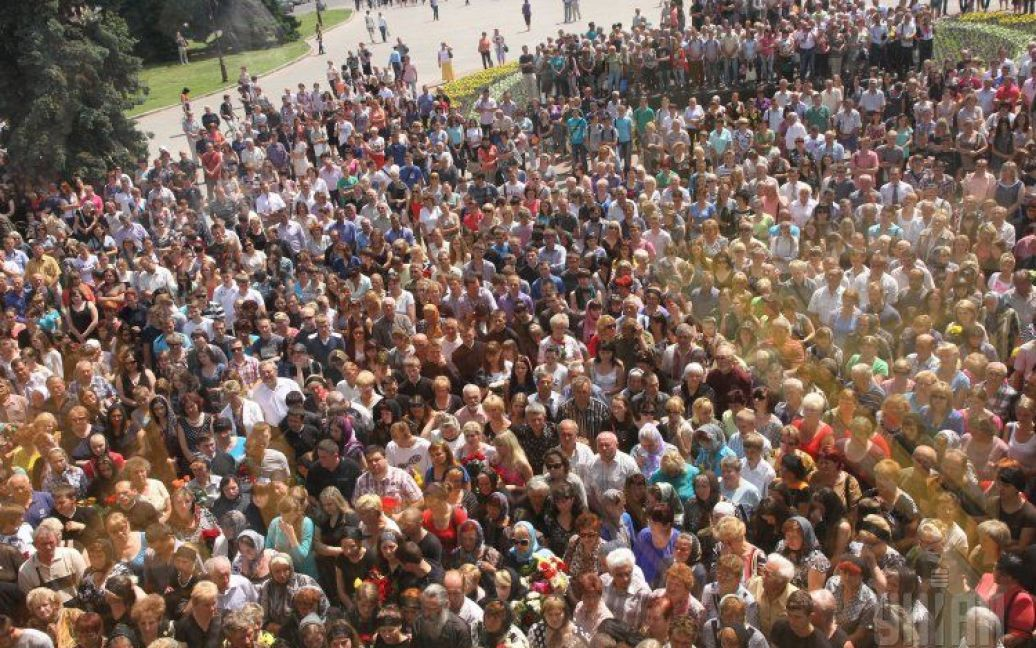 Громадянська панахида за загиблими під Волновахою / © УНІАН