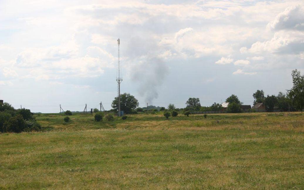 Очевидці зняли вибух на газопроводі на Полтавщині / © facebook.com/Орест Олійник