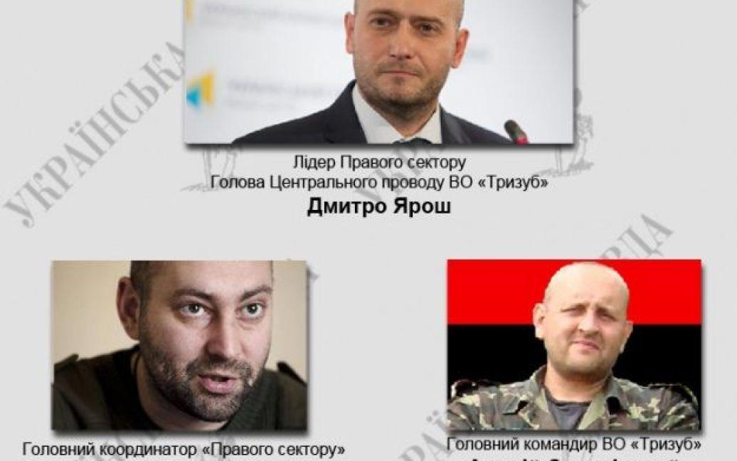 """Руководство """"Правого сектора"""" / © Украинская правда"""