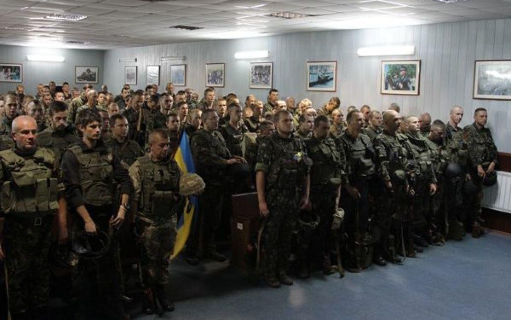 Гвардійців урочисто зустріли на Київщині / © mvs.gov.ua
