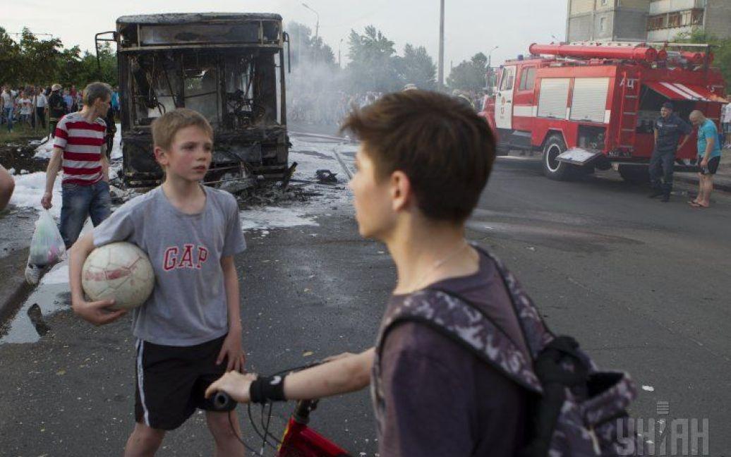 Автобус сгорел за считанные минуты / © УНІАН
