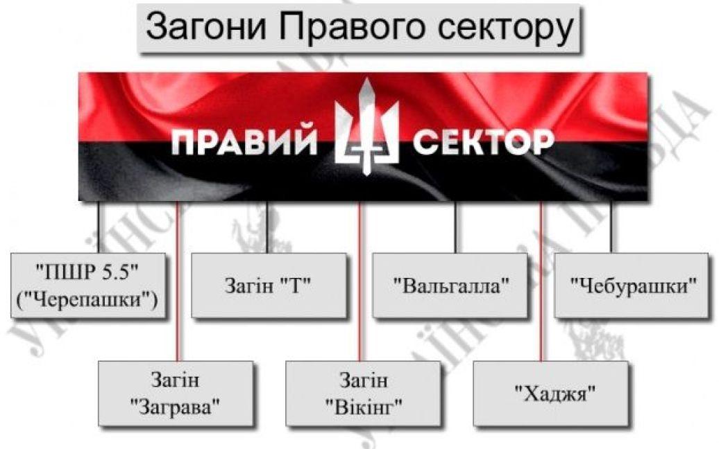 """Структура """"Правого сектора"""" / © Украинская правда"""