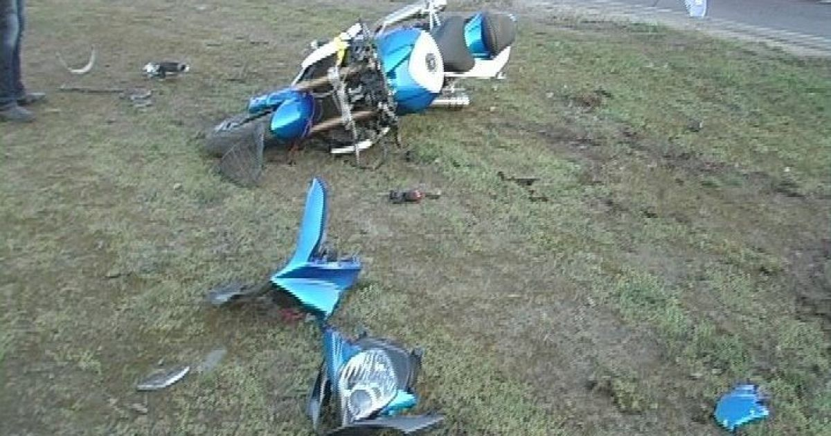 Водитель мотоцикла погиб на месте аварии / © Магнолія-ТВ