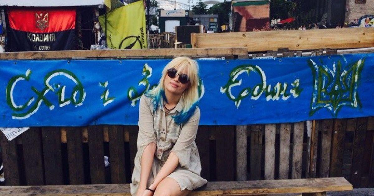 Гойя окрасилась в цвет украинской символики / © пресс-служба певицы