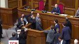 В Верховной Раде традиционно не обошлось без скандалов во время заседания