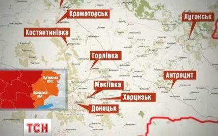 Карта горячих точек: сепаратисты превращают Восток Украины в непригодное для жизни место