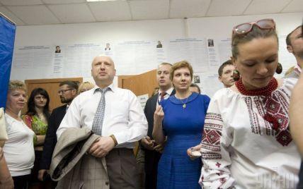 Турчинов поздравил Порошенко с фактической победой на выборах