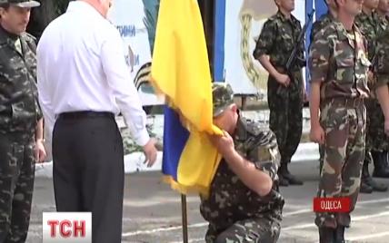 """Батальйон """"Одеса"""" отримав бойовий прапор і став на захист регіону"""