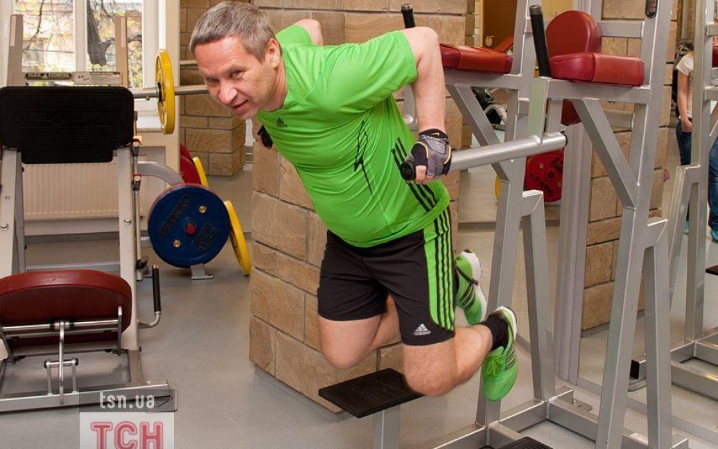 В спортзале Лукьянов проводит не менее двух часов / ©