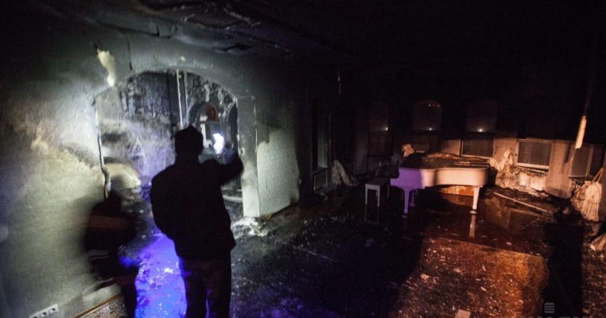 Дом сына Симоненко подожгли неизвестные / © УНІАН