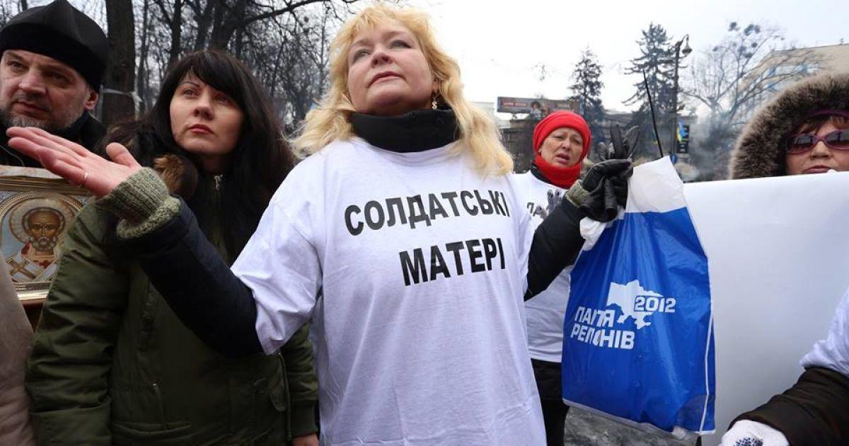 """Первое появление активной женщины - роль """"солдатской матери"""" / © Facebook, Анна Грабарская"""