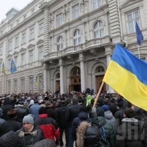 Львовские активисты разблокировали работу ОГА