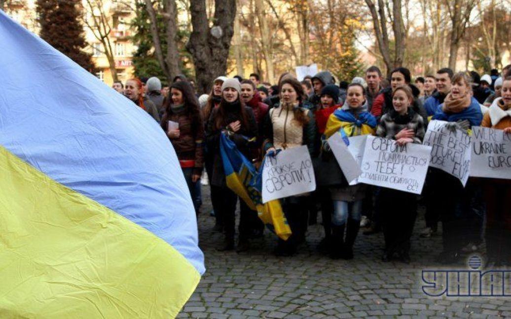 Студенти вийшли на мітинг / © УНІАН