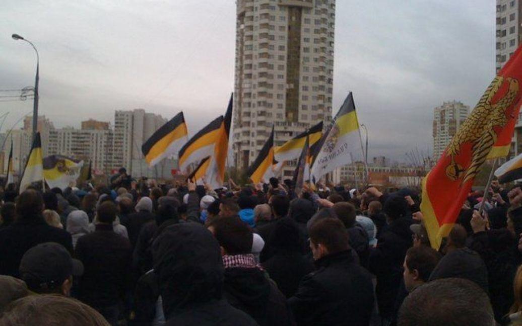 """""""Російський марш"""" 4 листопада, Москва / © dpni.org"""