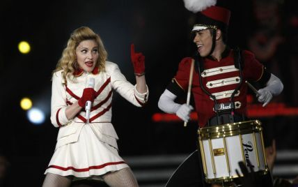 Мадонна поїхала з Києва у вовняному светрі і домашніх капцях