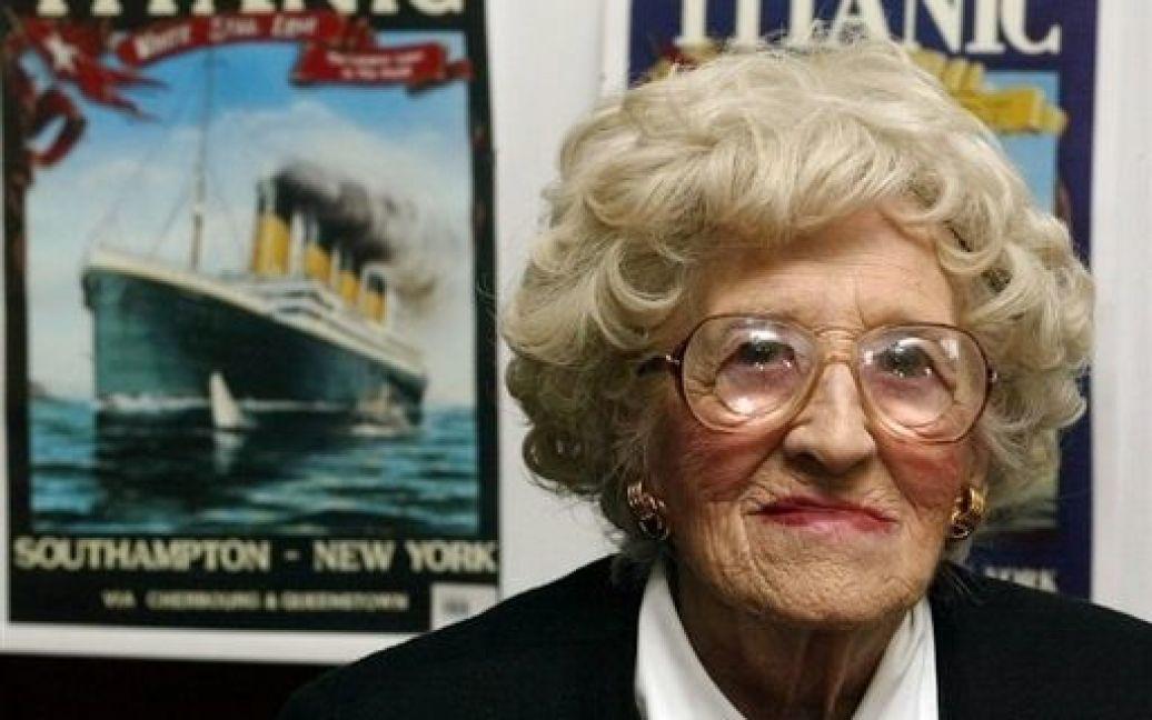 """Міллвіна Дін - остання пасажирка """"Титаніка"""" померла в 2009 році / © AFP"""