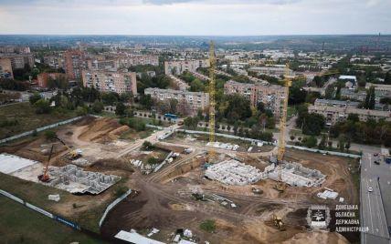 """У Донецькій ОДА показали прогрес """"Великого будівництва"""" 12-поверхівки для переселенців у Краматорську"""