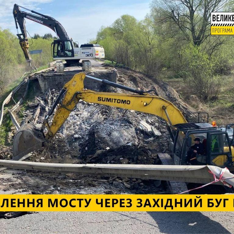 """Глава """"Укравтодора"""" Кубраков: Начаты подготовительные работы для восстановления разрушенного моста на Львовщине"""