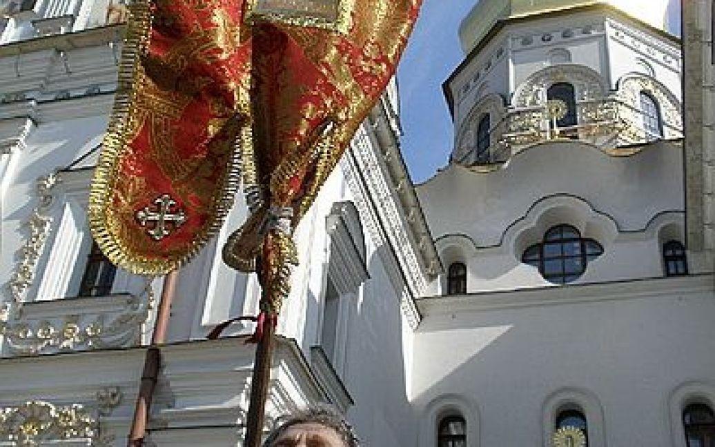 Близько тисячі людей взяли участь у хресній ході Московського патріархату в Києві. / © Новый Регион