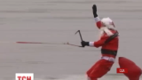 До мешканців американського міста Олександрія Санта-Клаус завітав на водних лижах