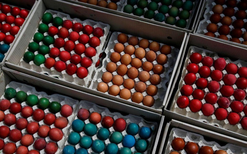 Освящение куличей и пасхальных яиц для бойцов АТО / © Reuters