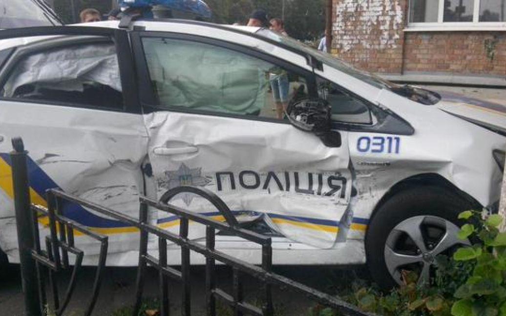 Патрульные попали в ДТП / © twitter.com/alexey_savkin