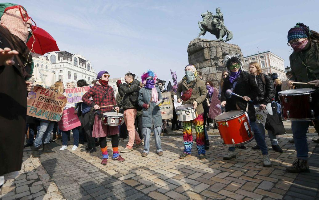 Марш за права жінок у Києві / © Reuters